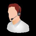 man having headphones