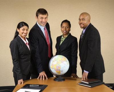 professionals standing