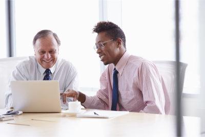 professionals using laptop