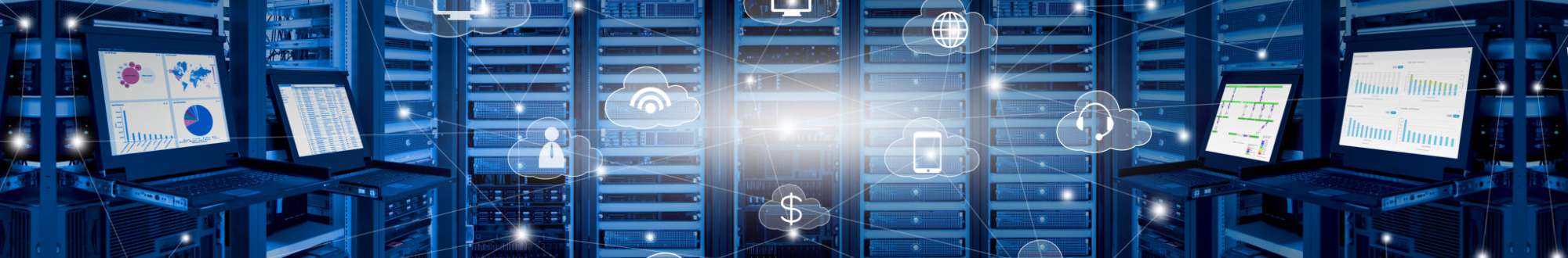 Internet data center and cloud services concept